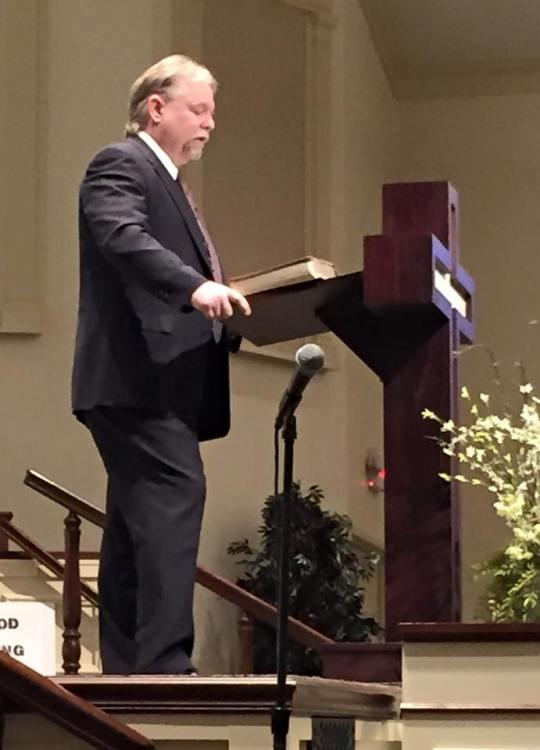Preaching at FBC Canton