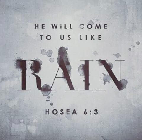 He Will Come to Us Like the Rain
