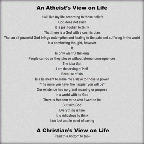 Atheist View vs Christian View