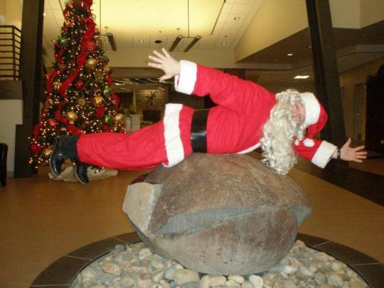 Planking Santa