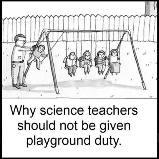 Science Teacher on Playground